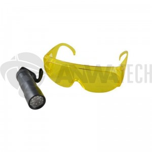 Lampa ultrafioletowa UV 9 LED + okulary