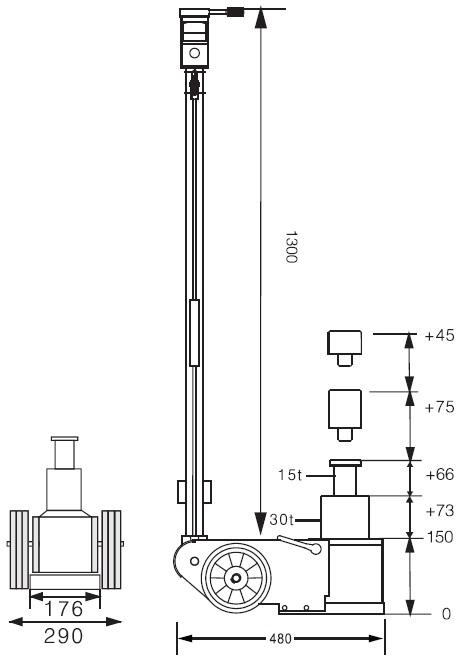 Podnośnik pneumatyczno hydrauliczny SNIT